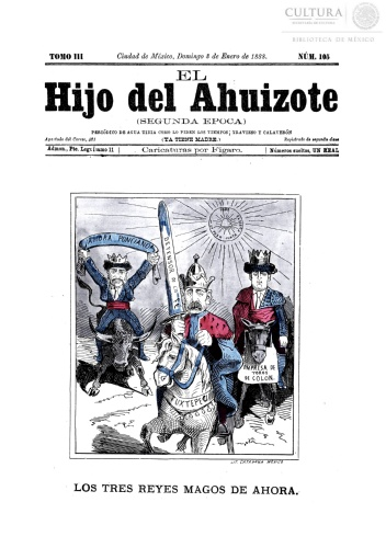 Imagen de El hijo del Ahuizote : semanario feroz. Número 105