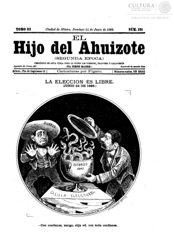 Imagen de El hijo del Ahuizote : semanario feroz. Número 128