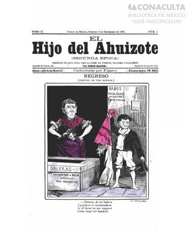 Imagen de El hijo del Ahuizote : semanario feroz. Número 1