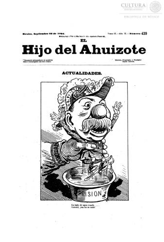 Imagen de El hijo del Ahuizote : semanario feroz. Número 439
