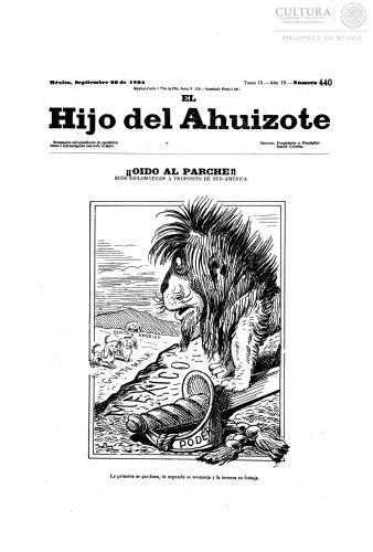 Imagen de El hijo del Ahuizote : semanario feroz. Número 440
