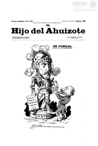 Imagen de El hijo del Ahuizote : semanario feroz. Número 441