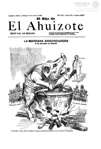Imagen de El hijo del Ahuizote : semanario feroz. Número 637