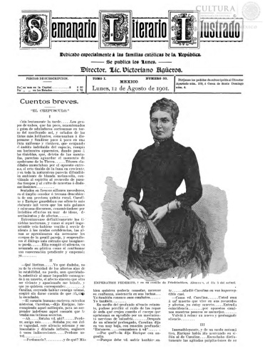Imagen de El tiempo literario ilustrado : semanario de literatura, historia, bellas artes, variedades, etc. Número 33