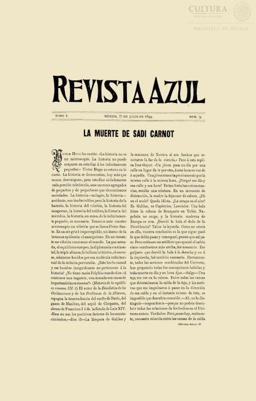 Imagen de Revista Azul, Tomo 9