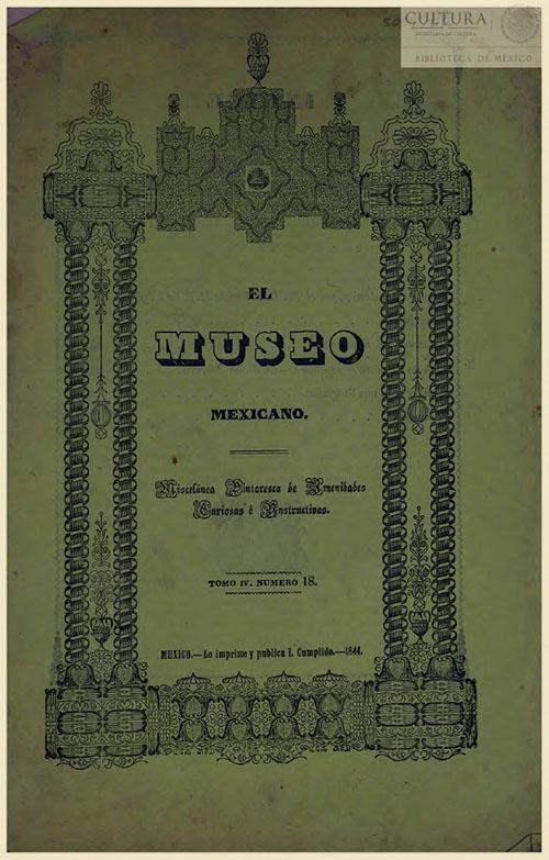 Imagen de El museo mexicano, o miscelánea pintoresca de amenidades curiosas e instructivas. Numero 18