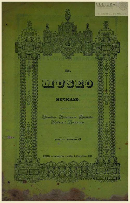 Imagen de El museo mexicano, o miscelánea pintoresca de amenidades curiosas e instructivas. Numero 23