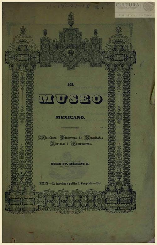 Imagen de El museo mexicano, o miscelánea pintoresca de amenidades curiosas e instructivas. Numero 2