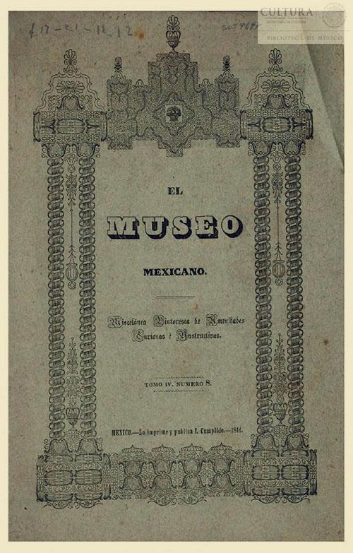 Imagen de El museo mexicano, o miscelánea pintoresca de amenidades curiosas e instructivas. Numero 8