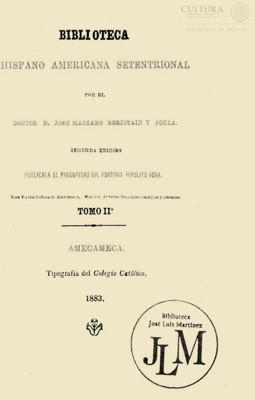 Imagen de Biblioteca hispano americana setentrional. Tomo 2