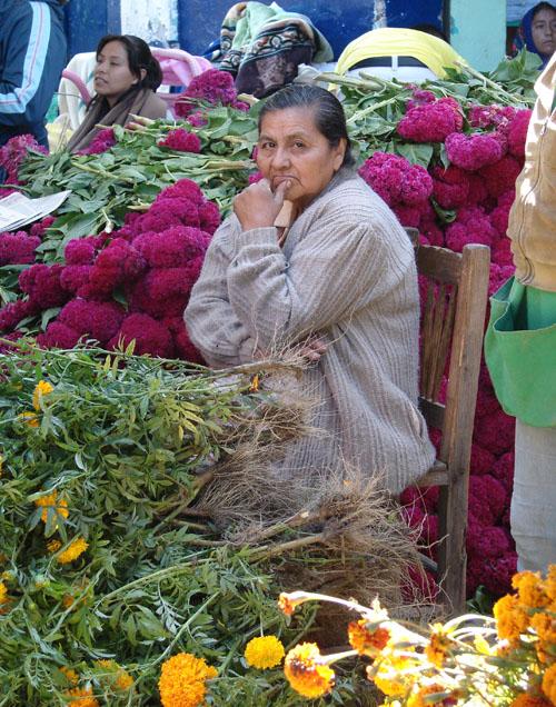 Imagen de Señora Rosita vendiendo flores