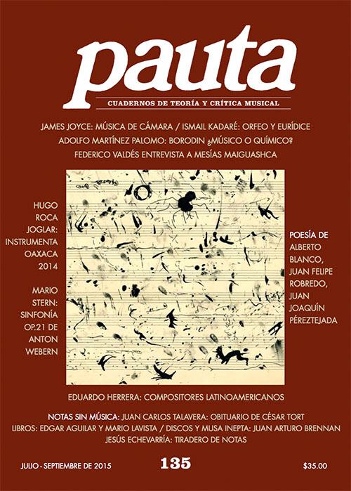 Imagen de Pauta 135. Cuadernos de teoría y crítica musical