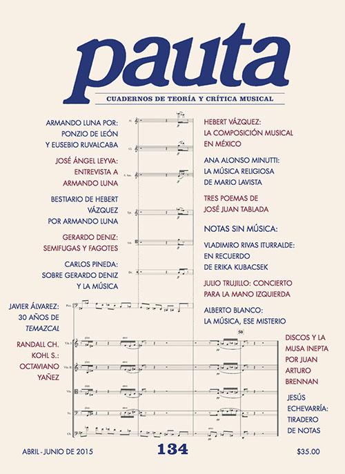 Imagen de Pauta 134. Cuadernos de teoría y crítica musical
