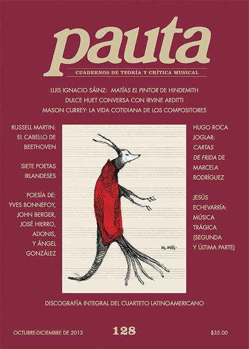 Imagen de Pauta 128. Cuadernos de teoría y crítica musical