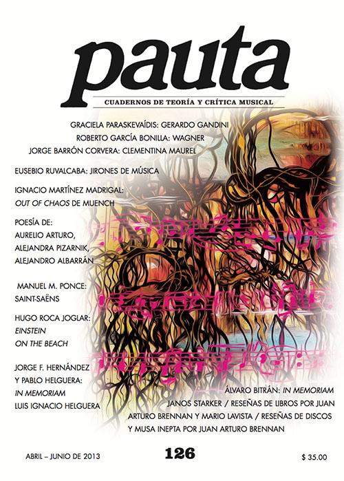 Imagen de Pauta 126. Cuadernos de teoría y crítica musical