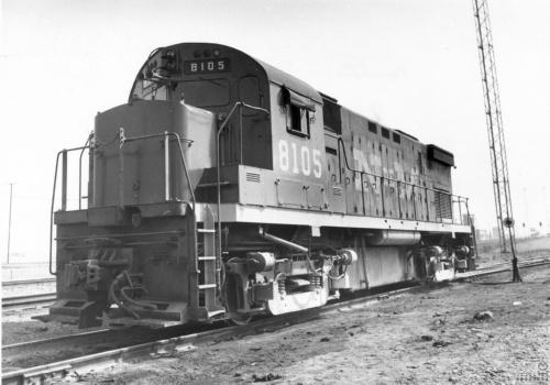 Imagen de Locomotora diesel número 8105 de Ferrocarriles Nacionales de México