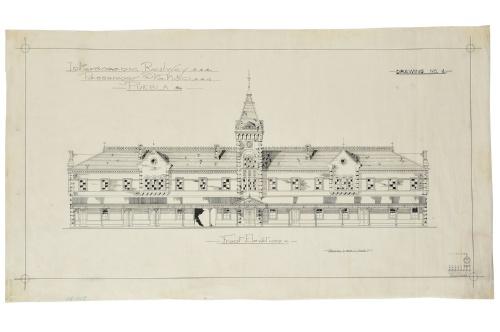 Imagen de Interoceanic Railway. Passenger station. Puebla. Drawing N° 4.