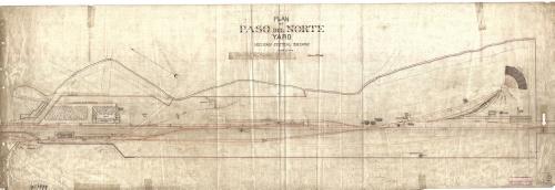Imagen de Plan of Paso del Norte yard. Mexican Central Railway.