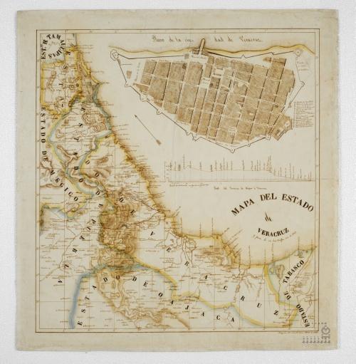 Imagen de Mapa del estado de Veracruz y parte de sus limítrofes.