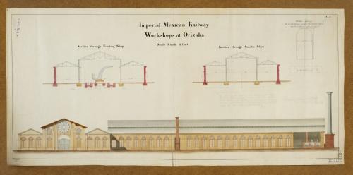 Imagen de Mexican Imperial Railway. Workshops at Orizaba.