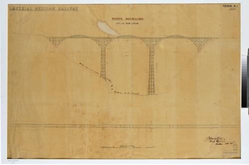 Imagen de Imperial Mexican Railway. Puente Maximiliano over The Ravine de Metlac.