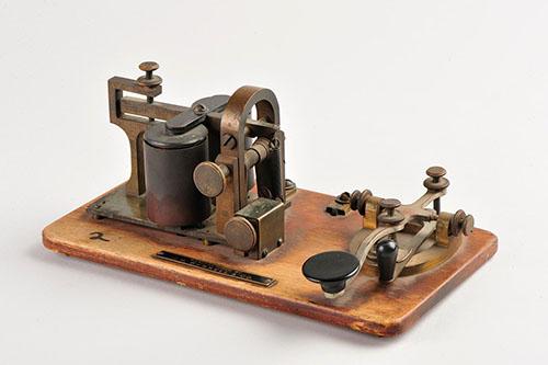 Imagen de Llave telegráfica con magneta