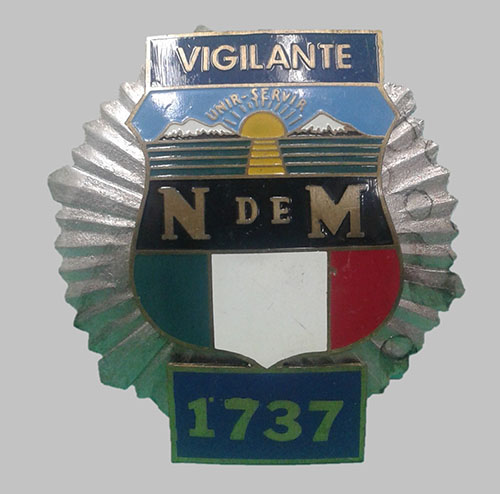 Imagen de Placa para vigilante