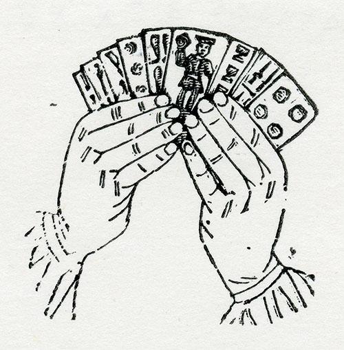 Imagen de Juego de Manos y Barajas. Dos Manos con Barajas (Tercera de Cinco)