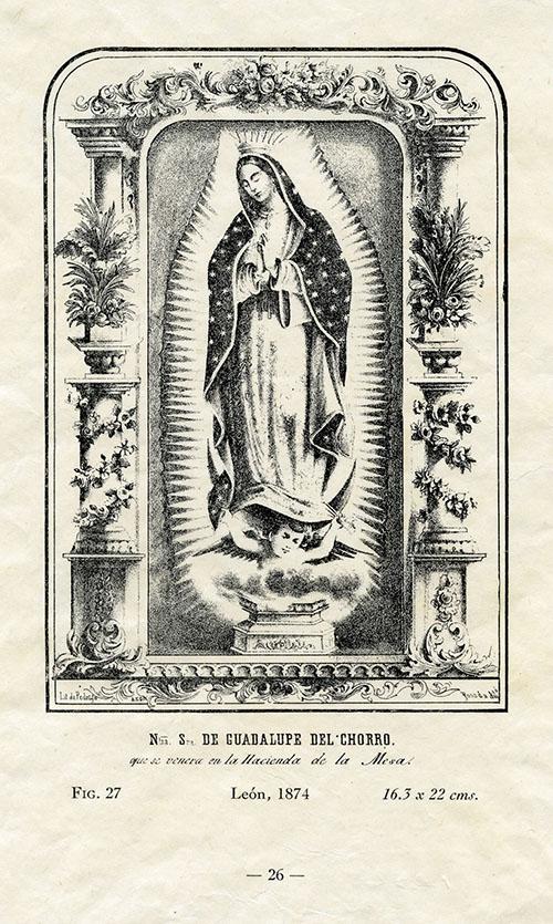 Imagen de Nuestra Señora de Guadalupe del Chorro que se venera en la Hacienda de la Mesa
