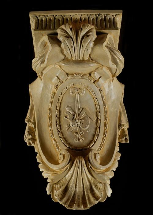 Imagen de Ménsula con el emblema de las artes