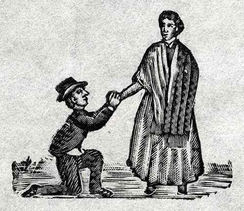 Imagen de Hombre pidiendo mano de mujer parada