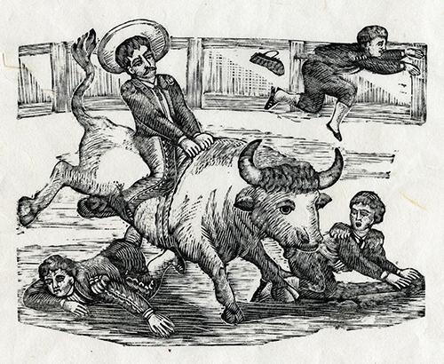 Imagen de Jinete sobre un toro con escuadrilla