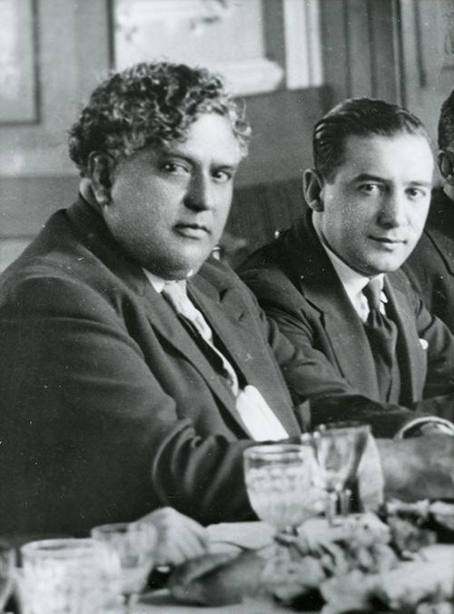 Imagen de Manuel Maples arce con El Gral. Heriberto Jara (detalle)