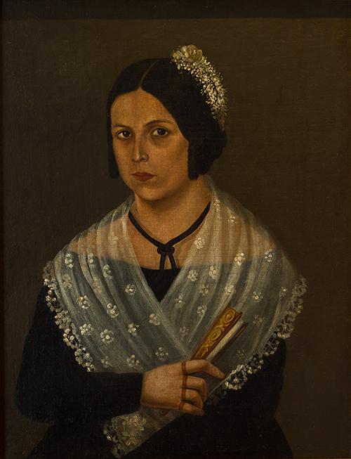Imagen de Retrato de Mujer con Abanico