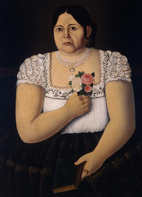 Imagen de Retrato de Poblana con Ramito de Rosas