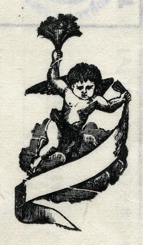 Imagen de Ángel con Listón y Flores