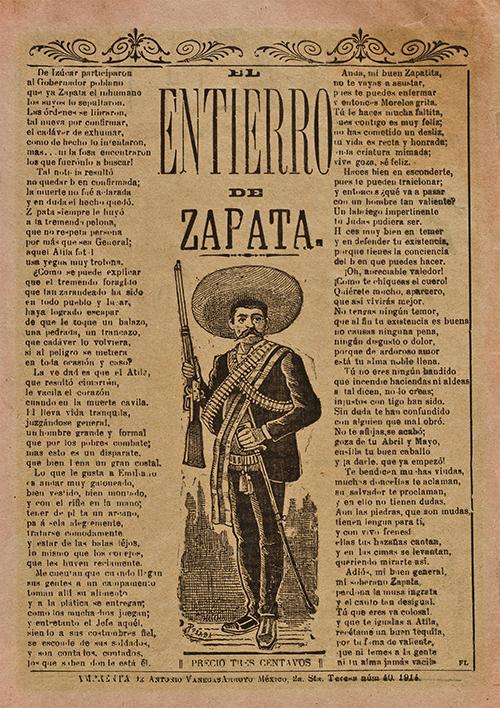 Imagen de El entierro de Zapata (Corrido)