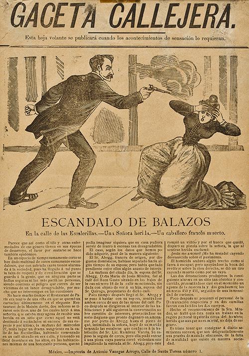 Imagen de Escándalo de Balazos, en la Calle de las escalerillas...