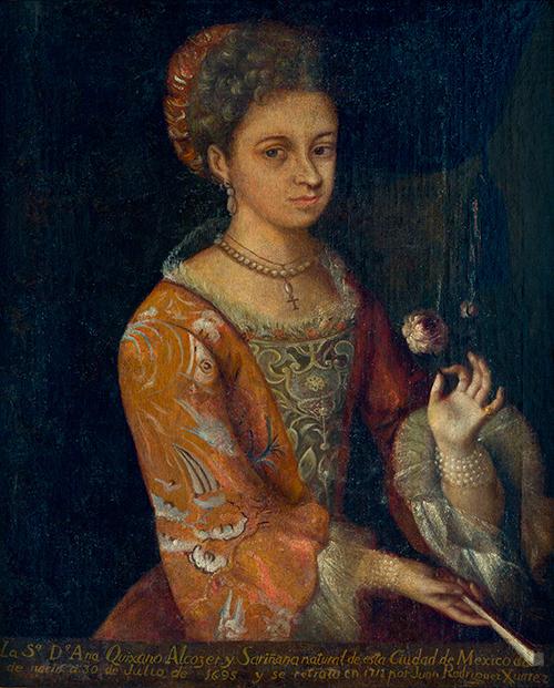 Imagen de Doña Ana Quijano de Barbosa (esposa de Don Pedro de Barbosa)
