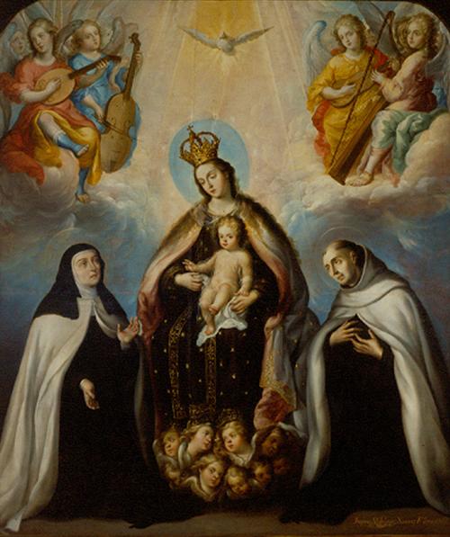 Imagen de La Virgen del Carmen con Santa Teresa y San Juan de la Cruz