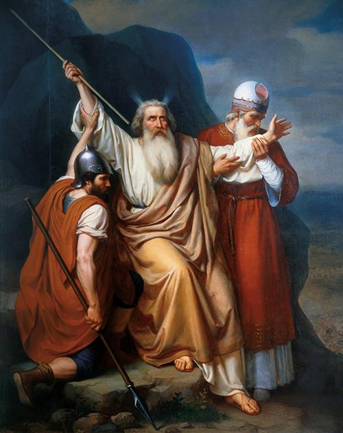 Imagen de Moisés en Raphidim