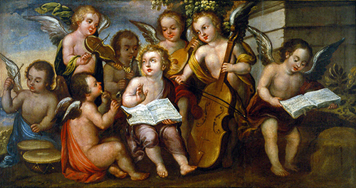 Imagen de El niño Jesús con Ángeles Músicos