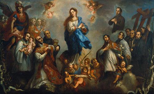 Imagen de La Purísima Concepción con Jesuitas