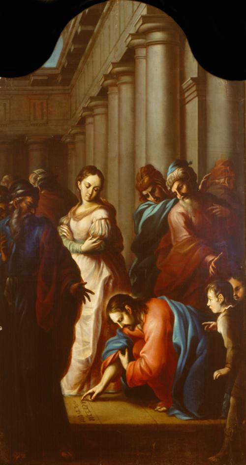 Imagen de Jesús con la Mujer adúltera