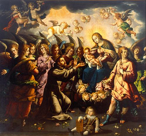 Imagen de Aparición de la Virgen y el niño a San Francisco