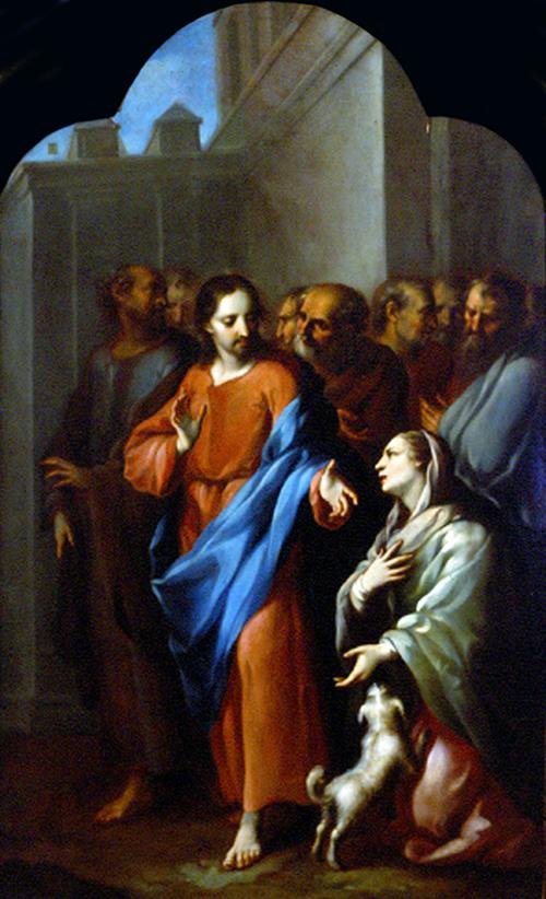 Imagen de Jesús con la Mujer enferma