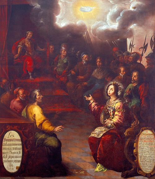 Imagen de Santa Catalina de Alejandría Discutiendo con los Sabios