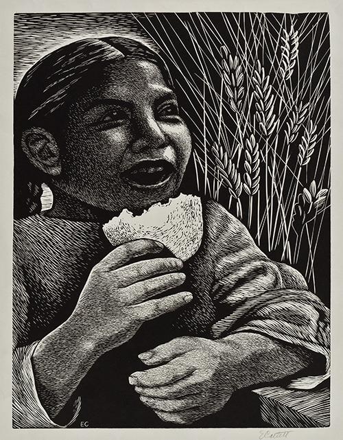 Imagen de La niña y el pan