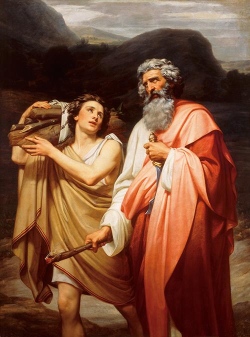 Imagen de Abraham conduciendo a Isaac al Sacrificio