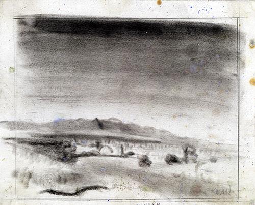 """Imagen de Apunte Para el Cuadro """"El Cielo Sobre el Pueblo"""""""